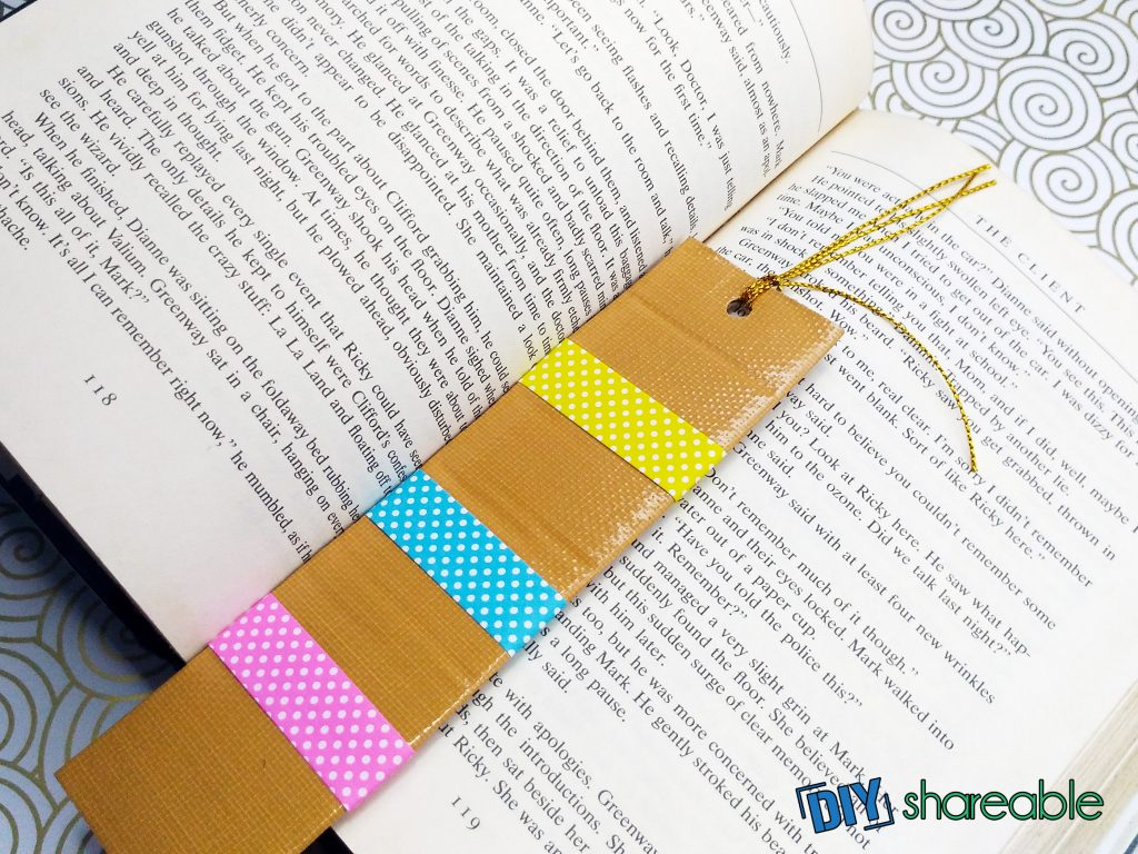 cute DIY bookmarks using cardboard and tape