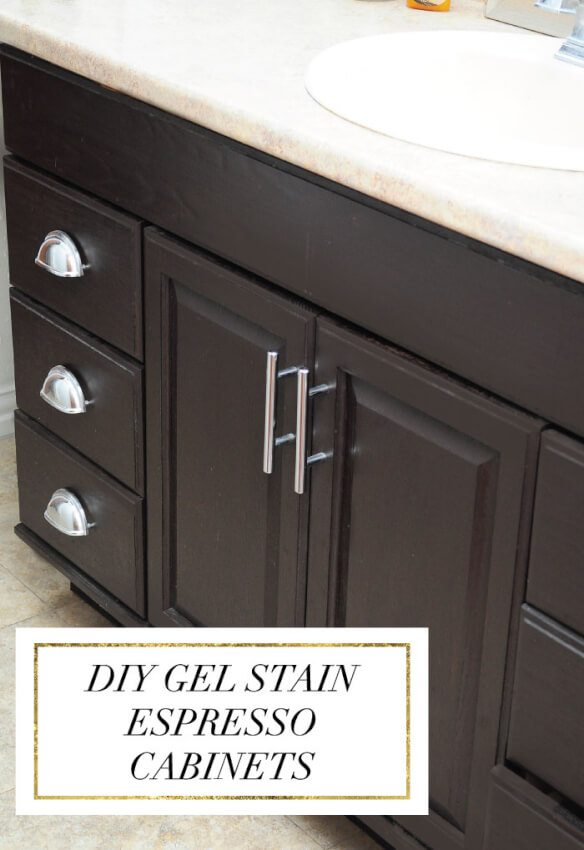 Breathe new life into those old half bath cabinets with a fresh coat of paint.