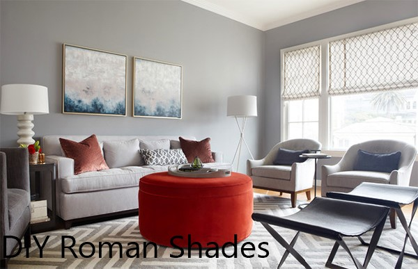 This is a picture of roman shades on a window