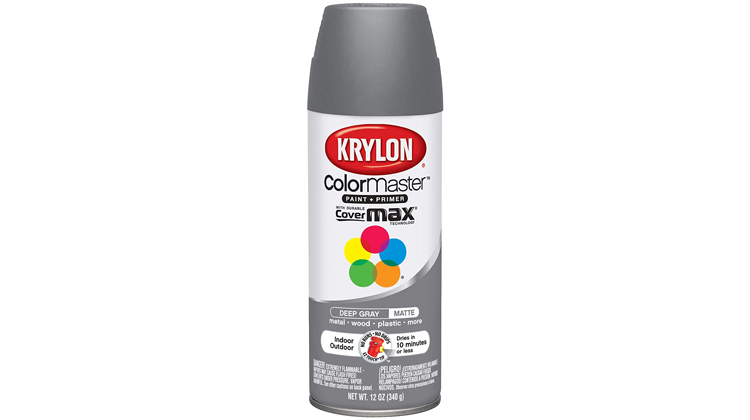 Krylon ColorMaster Aerosol Spray Paint, Satin Deep Gray