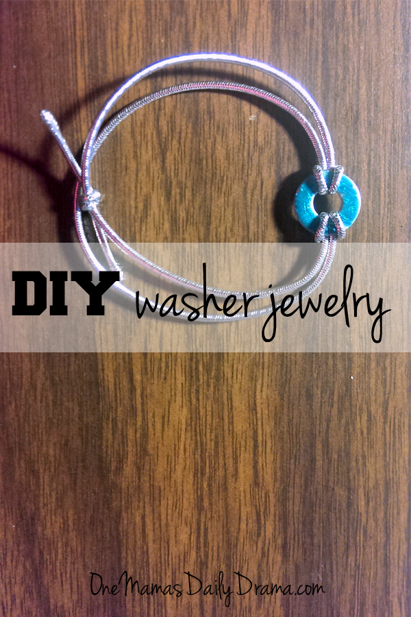Ribbon and washer necklace