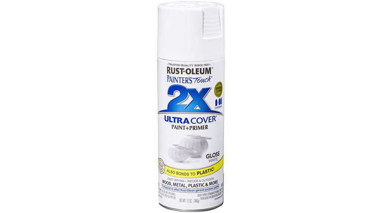 Rust-Oleum Painter's Touch 2x Ultra Cover Paint + Primer Spray Paint, White
