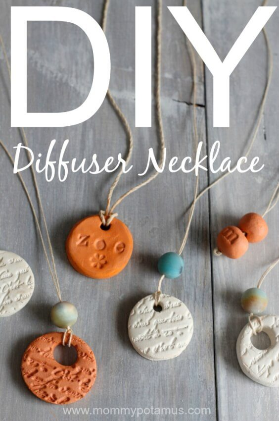 essential oil diffuser statement necklace with stamping