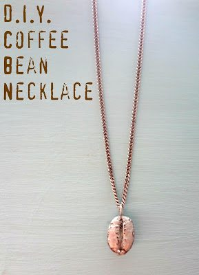 chain necklace with glazed coffee bean charm