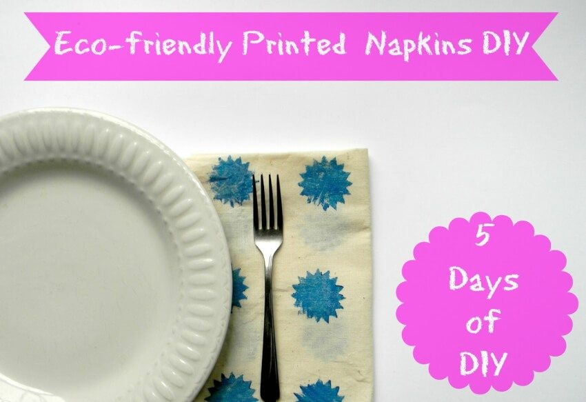 cloth napkins hand painted by children as gifts