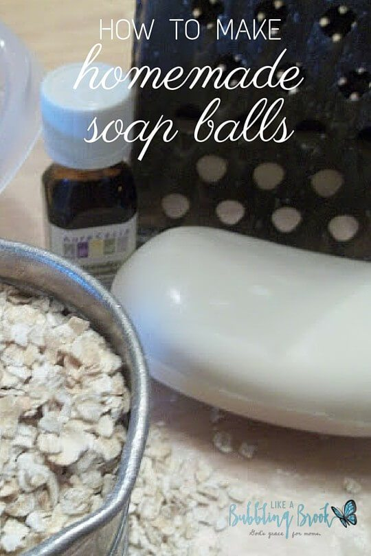 scented soap balls with oatmeal