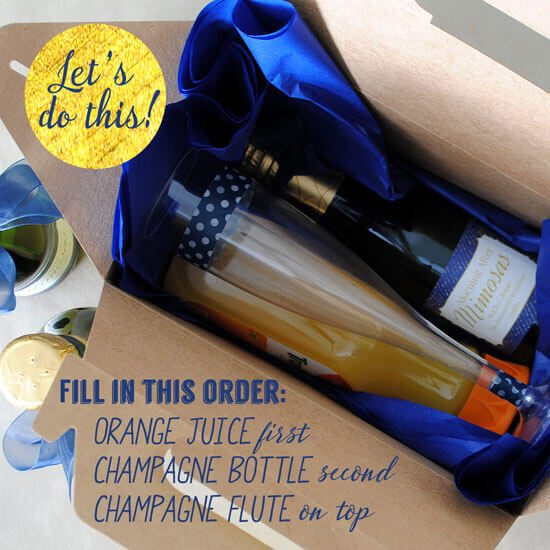 diy adult party favors morning after mimosa kit
