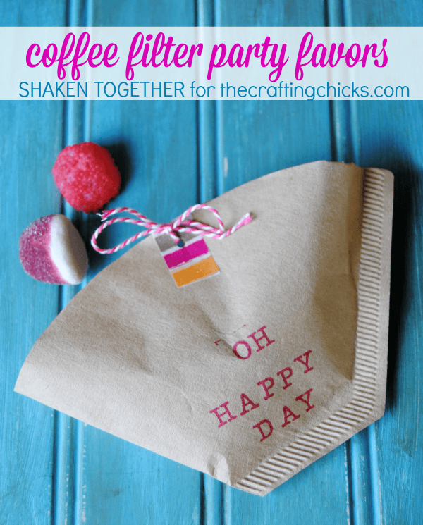 diy adult party favors coffee filter cones