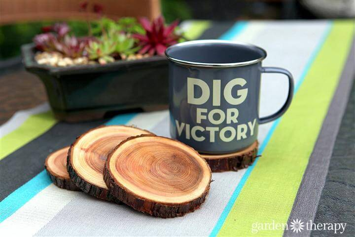 This craft makes coasters out of branches so you can bring a little of the outdoors into your home