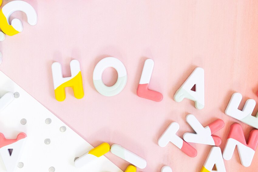 This craft gives those old-time magnetic letters some color and pizazz