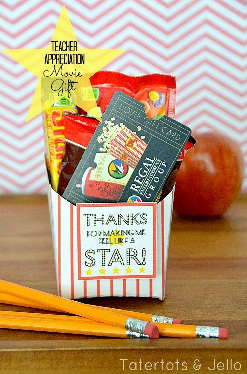 teacher appreciation movie gift