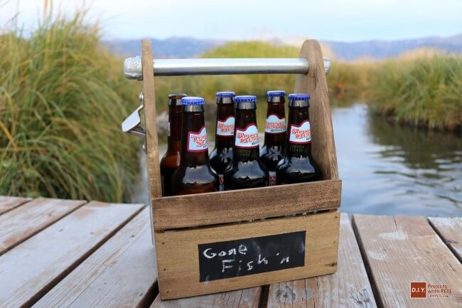 Very cool beer caddy that even comes with a built-in bottle opener on the side.