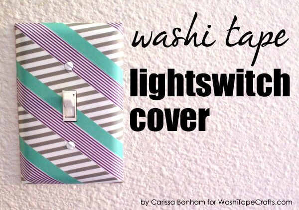washi tape light cover