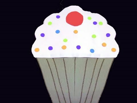 cupcake construction paper craft white frosting cherry