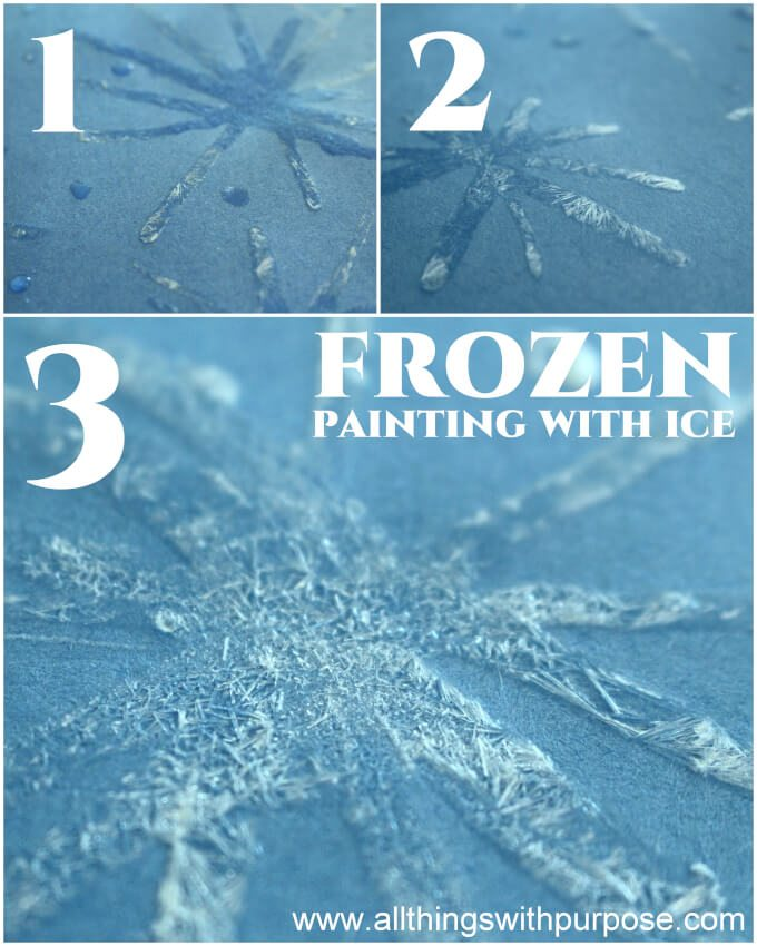 frozen painting with ice kids crafts