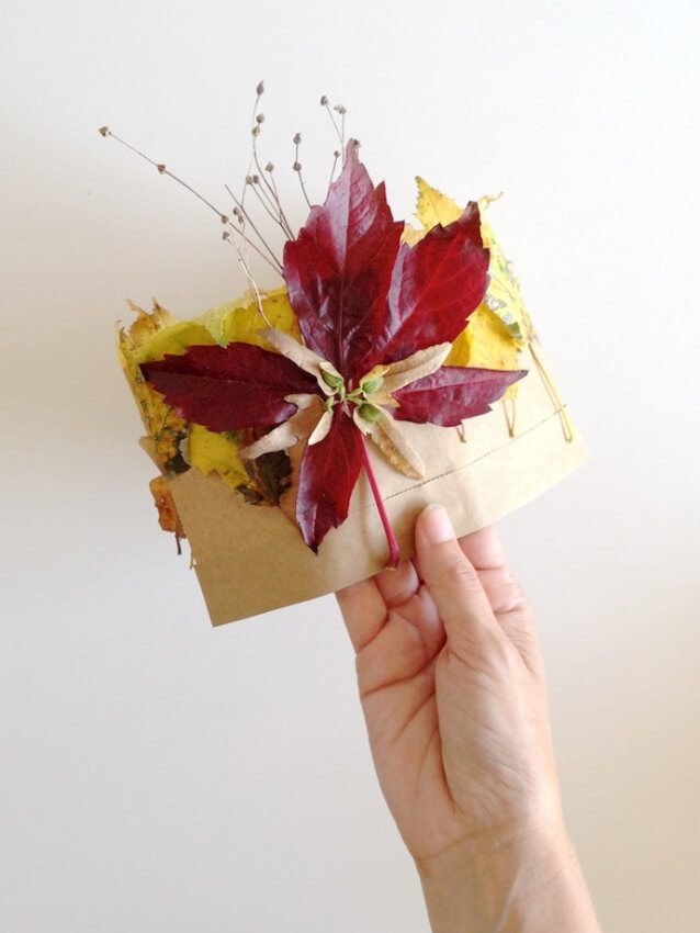 colored fall leaves crown