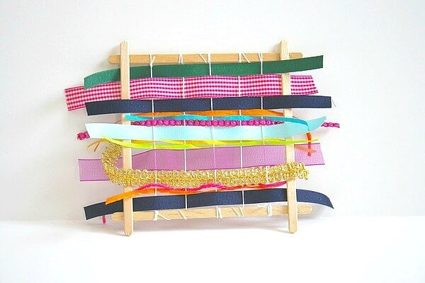 popsicle stick ribbon loom