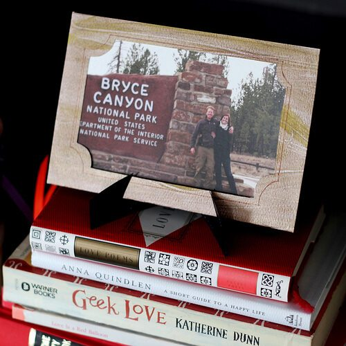 woodgrain paper picture frame featuring Bryce Canyon National Park