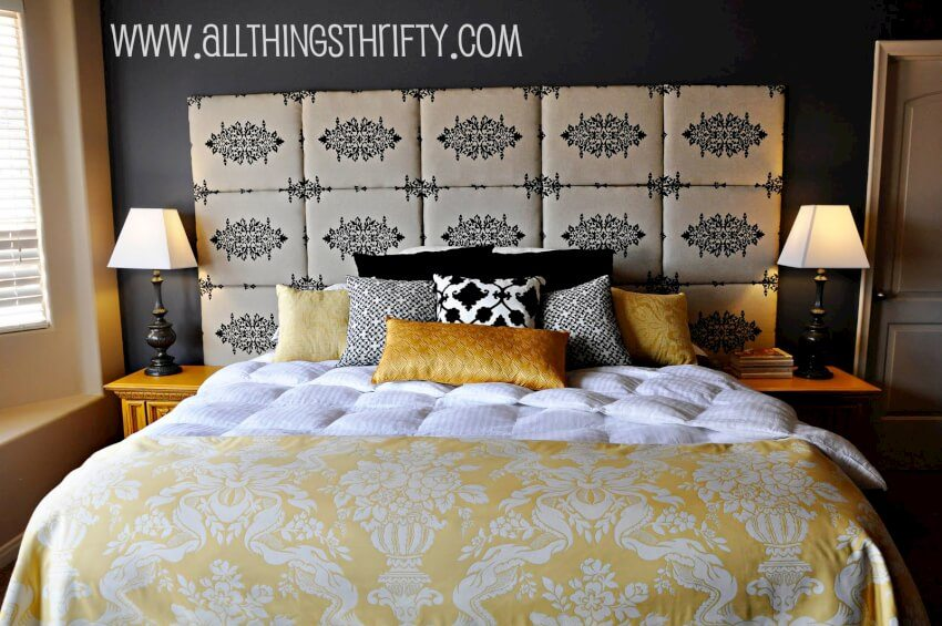 Give your bedroom an entirely differently look with this DIY fabric headboard.