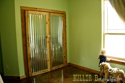 corrugated metal barn doors