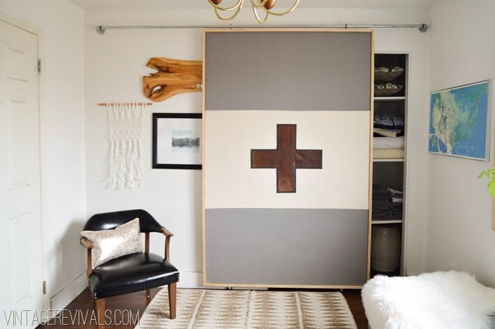 fabric panel sliding barn door