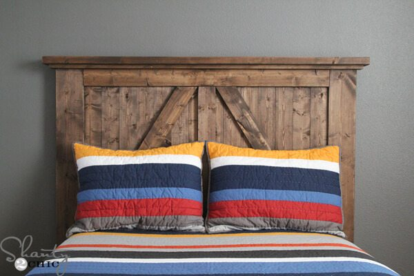 bedroom barn door headboard