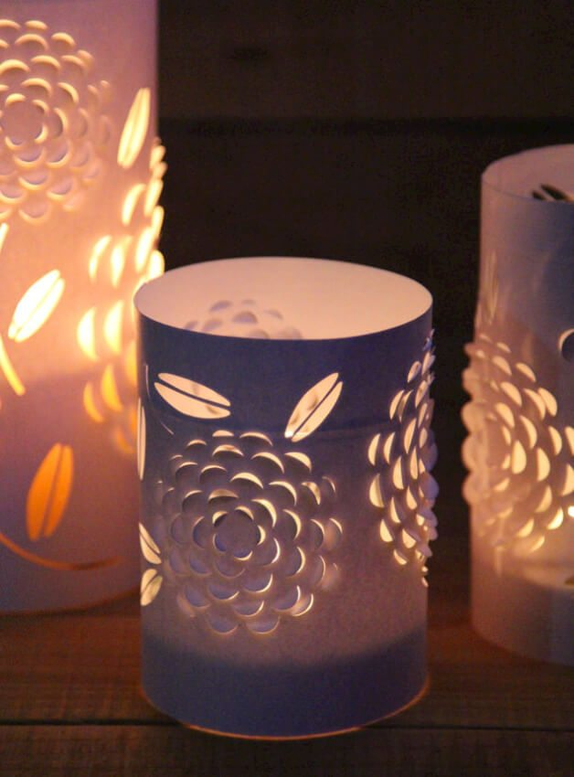 Beautiful homemade paper lanterns with intricate design