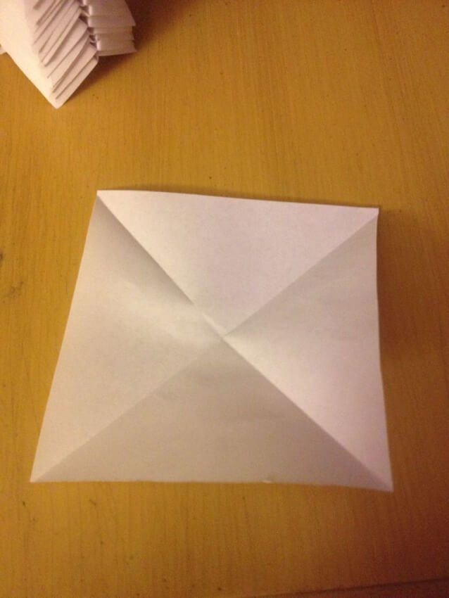 folding paper on the diagonals