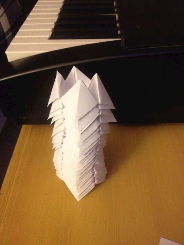 pile of paper fortune tellers for paper lantern