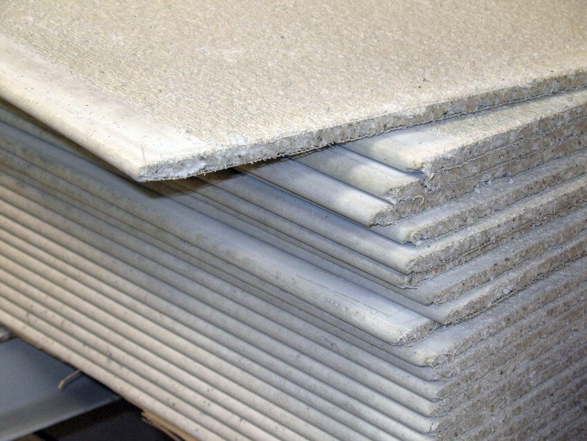 Stack of cement backerboard to be used as a substrate