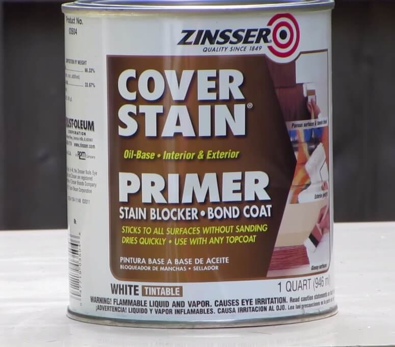 Zinsser cover stain primer bonding coat