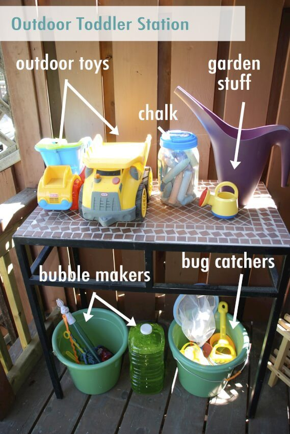 This project creates a outdoor toy station to bring order to your child's outside world.