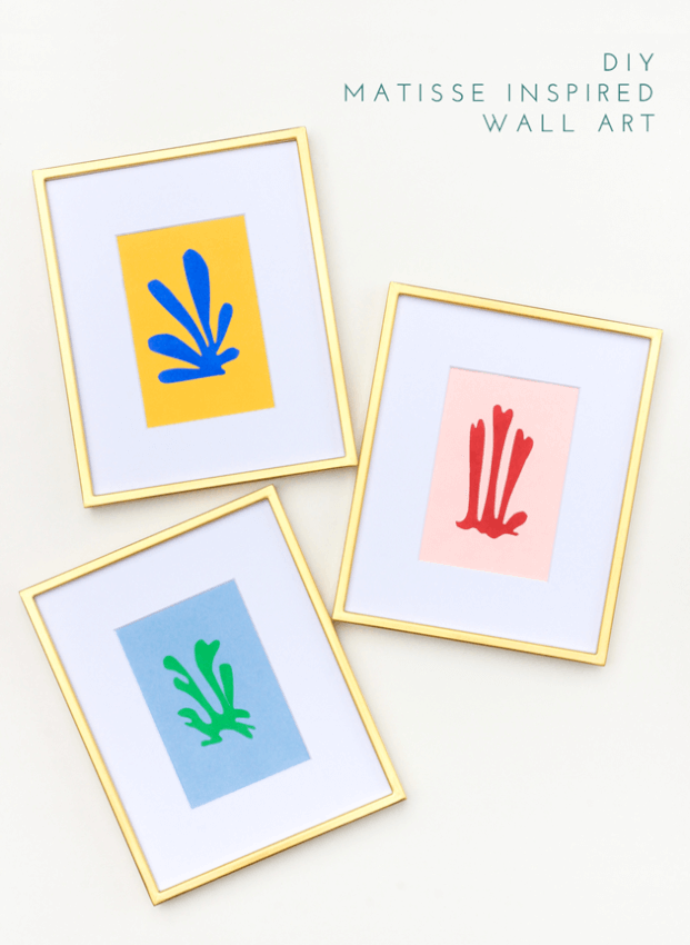 matisse cut-out wall art abstract