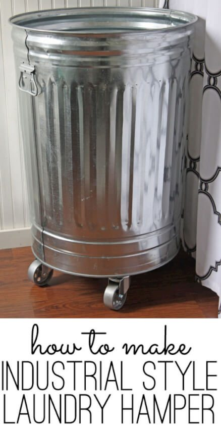 rolling industrial style laundry hamper