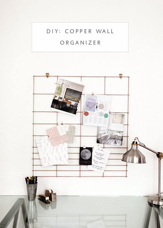 Organize anything hangable using this DIY copper wall organizer either outside or inside your house.