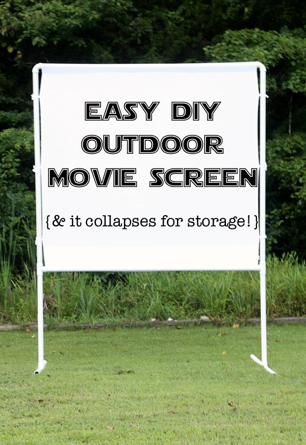 how to make an outdoor movie screen