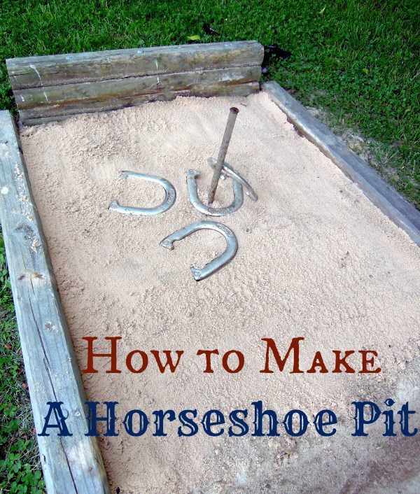 how to make a backyard horseshoe pit