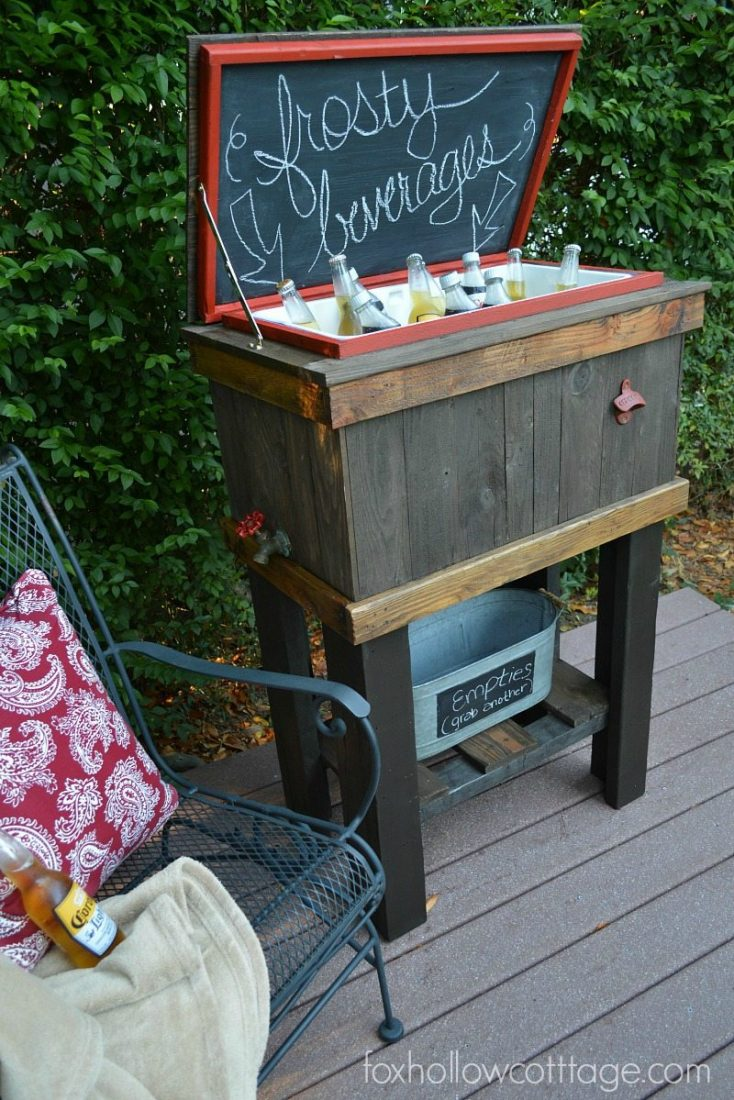 how to make a wooden deck cooler
