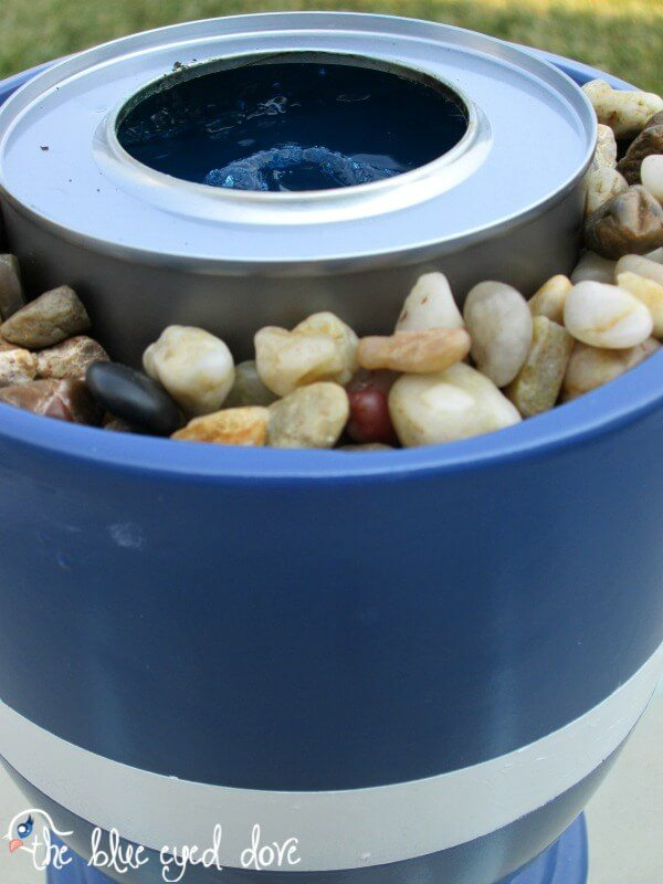 These flower pot fire pits are so easy to make, you can make more than one for special events.
