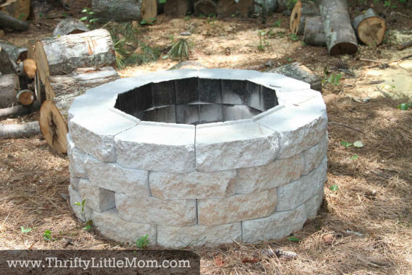 Build this stone fire pit to the size of your liking with no mortar required!