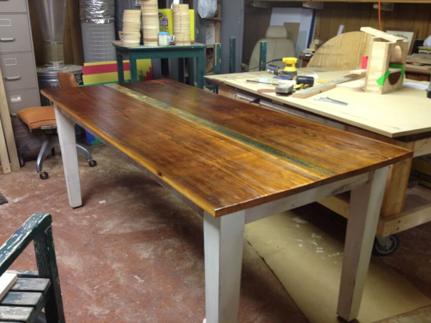 finished do-it-yourself farmhouse table